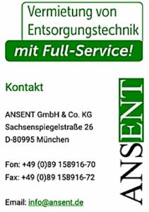 ANSENT GmbH & Co. KG - Sachsenspiegelstraße 26 - D-80995 München